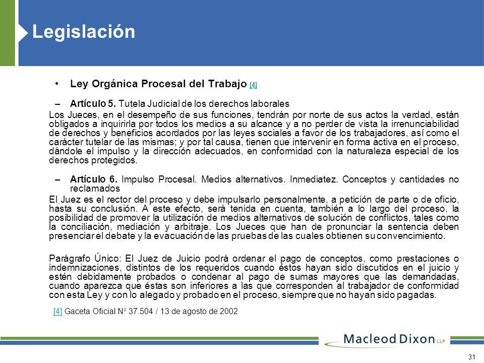 Legislación Ley Orgánica Procesal del Trabajo [4]